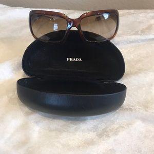 100% Authentic Prada Tortoise Brown Sunglasses